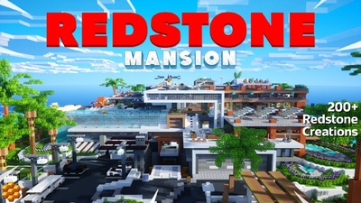 Redstone Mansion on the Minecraft Marketplace by Vertexcubed