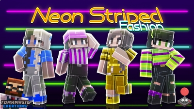 Neon Striped Fashion on the Minecraft Marketplace by Tomhmagic Creations