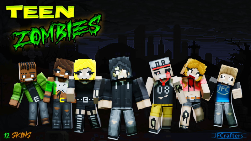 Teen Zombies on the Minecraft Marketplace by JFCrafters