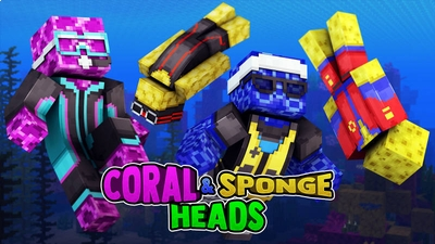 Coral  Sponge Heads on the Minecraft Marketplace by 57Digital