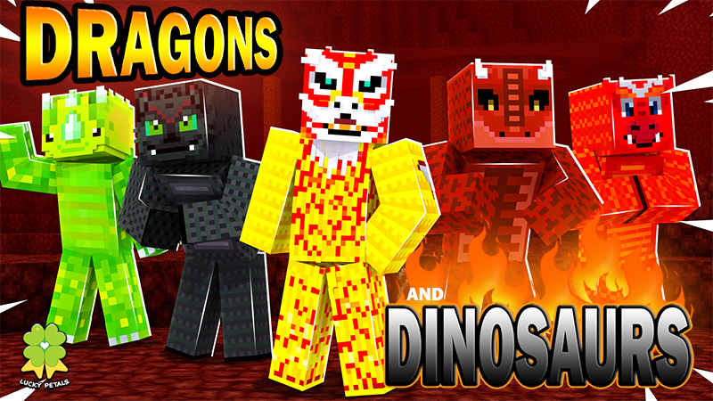 Dragons and Dinosaurs on the Minecraft Marketplace by The Lucky Petals
