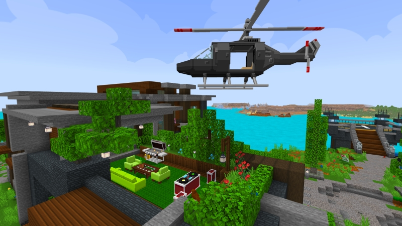 Modern House: Cliffside! on the Minecraft Marketplace by VoxelBlocks