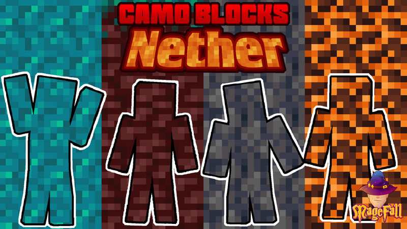 Camo Blocks Nether on the Minecraft Marketplace by Magefall