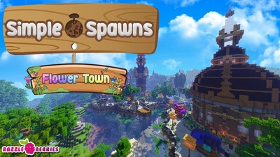 Simple Spawns Flower Town on the Minecraft Marketplace by Razzleberries
