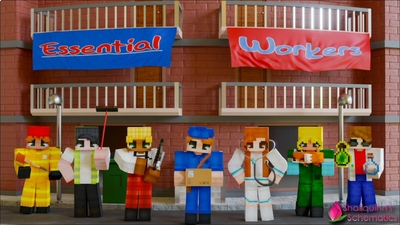 Essential Workers on the Minecraft Marketplace by Shaliquinn's Schematics