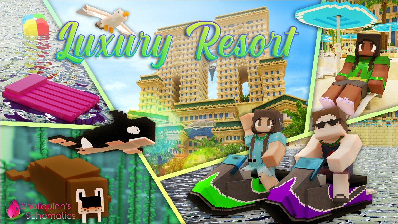 Luxury Resort on the Minecraft Marketplace by Shaliquinn's Schematics
