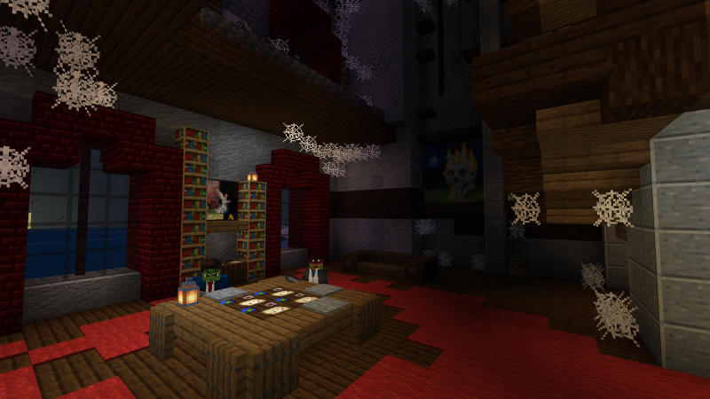 Winter Horror Mansion on the Minecraft Marketplace by BLOCKLAB Studios