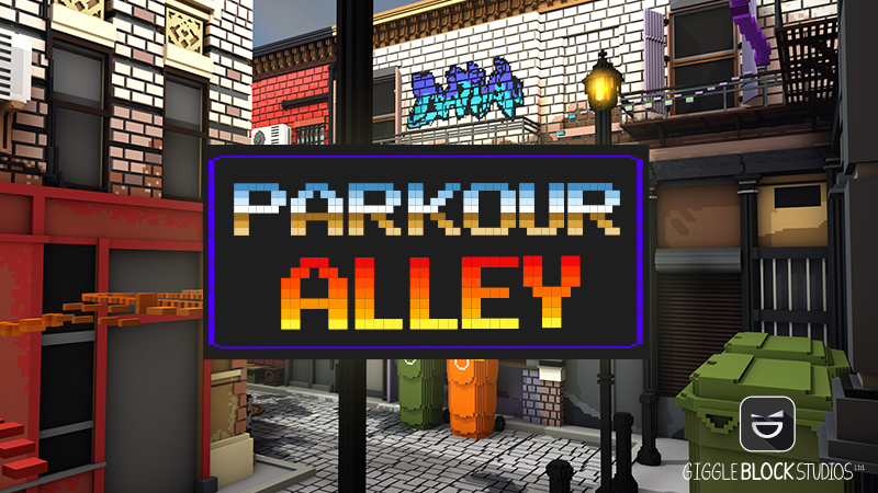 Parkour Alley on the Minecraft Marketplace by Giggle Block Studios