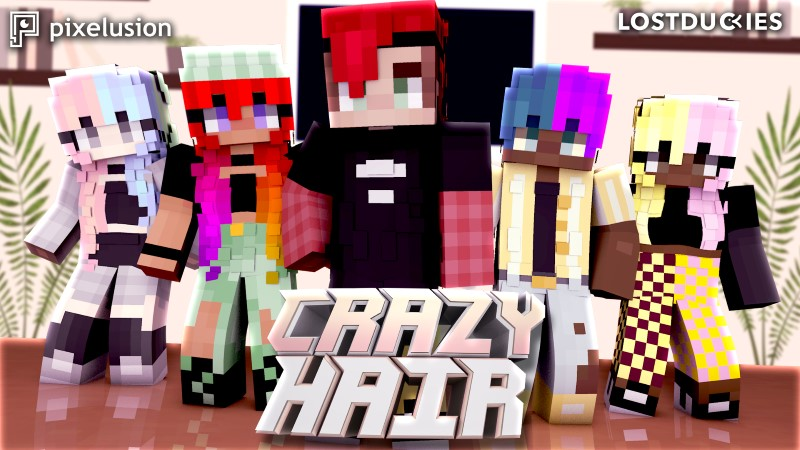 Crazy Hair on the Minecraft Marketplace by Pixelusion