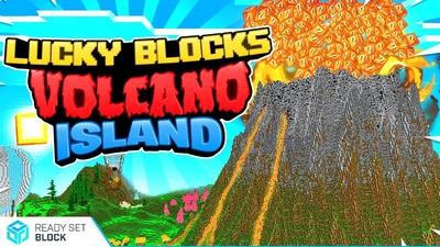 Lucky Blocks Volcano Island on the Minecraft Marketplace by Ready, Set, Block!