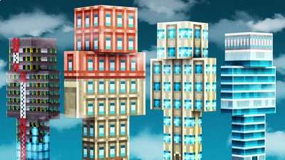 Skyscrapers on the Minecraft Marketplace by 57Digital