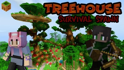 Treehouse Survival Spawn on the Minecraft Marketplace by MobBlocks