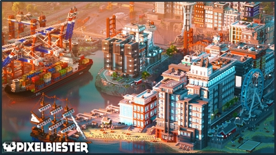 Port Perfect  Roleplay on the Minecraft Marketplace by Pixelbiester