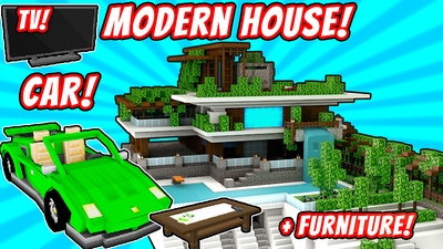 Modern House 2 on the Minecraft Marketplace by VoxelBlocks