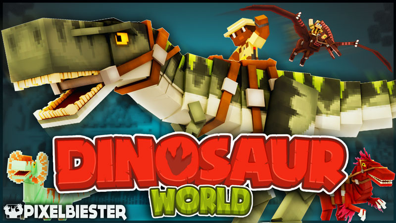 Dinosaur World on the Minecraft Marketplace by Pixelbiester