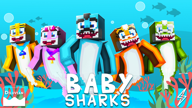 Baby Sharks on the Minecraft Marketplace by Diluvian