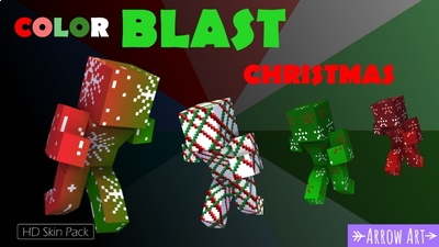 Color Blast Christmas on the Minecraft Marketplace by Arrow Art Games