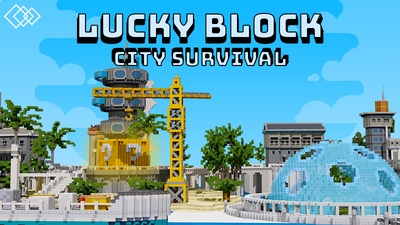 Lucky Block City Survival on the Minecraft Marketplace by Tetrascape