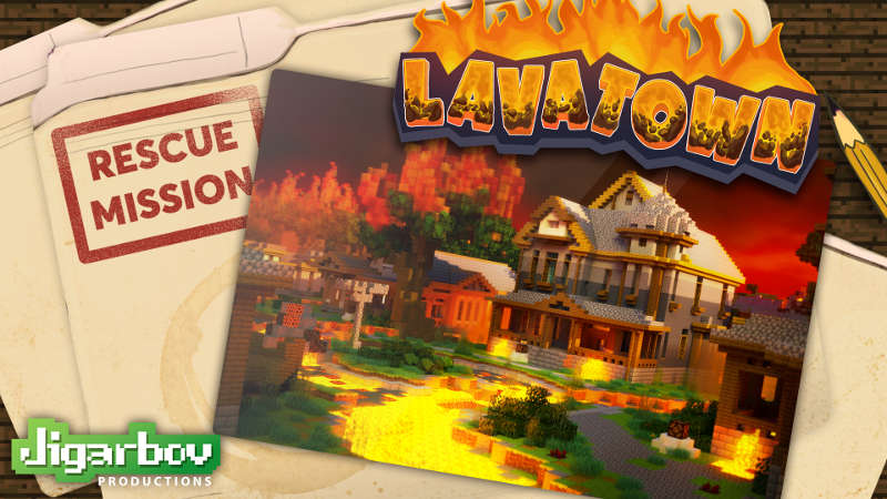 Rescue Mission Lava Town on the Minecraft Marketplace by Jigarbov Productions