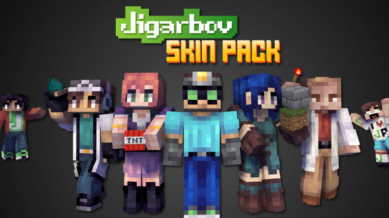 Jigarbov Skin Pack on the Minecraft Marketplace by Jigarbov Productions