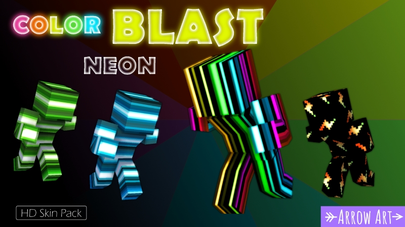 Color Blast Neon on the Minecraft Marketplace by Arrow Art Games