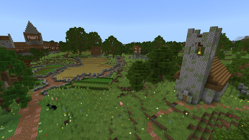 Survival Spawn: Rivershire on the Minecraft Marketplace by Magefall