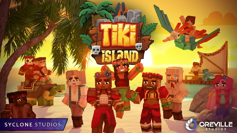 Tiki Island HD Skins on the Minecraft Marketplace by Syclone Studios