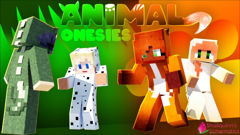Animal Onesies on the Minecraft Marketplace by Shaliquinn's Schematics
