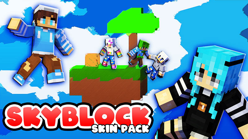 SkyBlock Skin Pack on the Minecraft Marketplace by The Lucky Petals