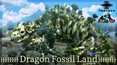 Dragon Fossil Land on the Minecraft Marketplace by Impress
