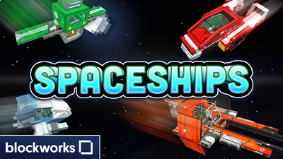 Spaceships on the Minecraft Marketplace by Blockworks