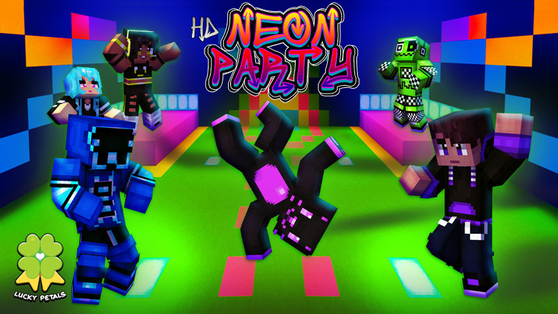 HD Neon Party on the Minecraft Marketplace by The Lucky Petals