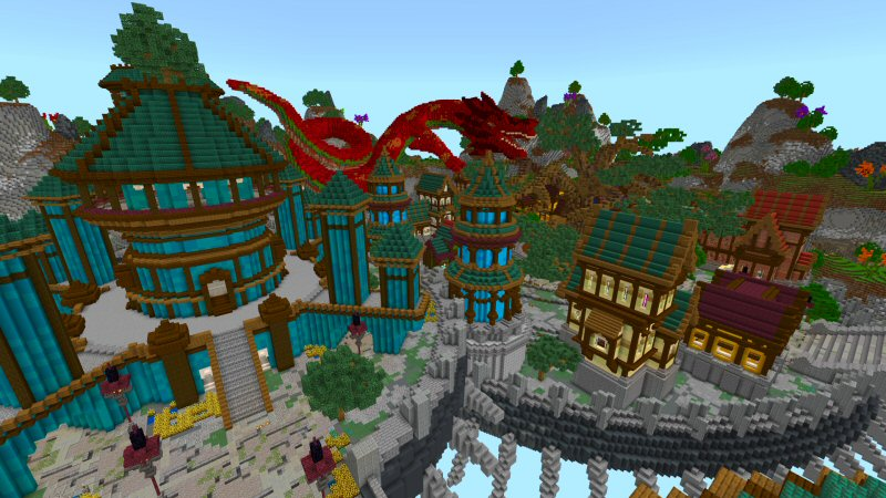 City in the Sky on the Minecraft Marketplace by Shaliquinn's Schematics