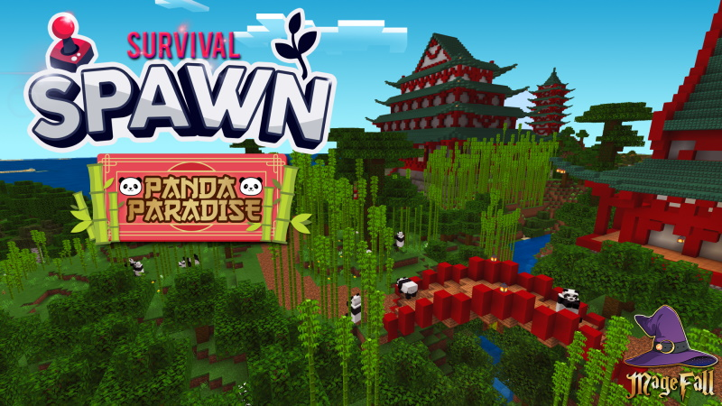 Survival Spawn Panda Paradise on the Minecraft Marketplace by Magefall