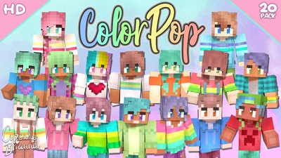 ColorPop HD Skin Pack on the Minecraft Marketplace by CupcakeBrianna