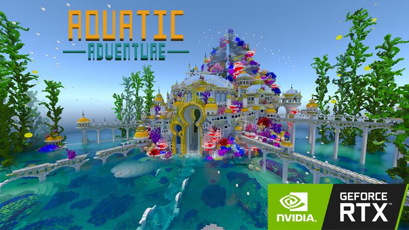 Aquatic Adventure RTX on the Minecraft Marketplace by Nvidia
