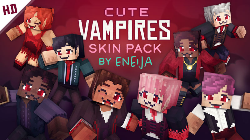 Cute Vampires HD Skin Pack on the Minecraft Marketplace by Eneija