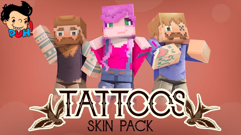 Tattoos on the Minecraft Marketplace by Duh