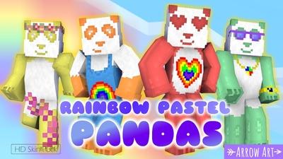 Rainbow Pastel Pandas on the Minecraft Marketplace by Arrow Art Games