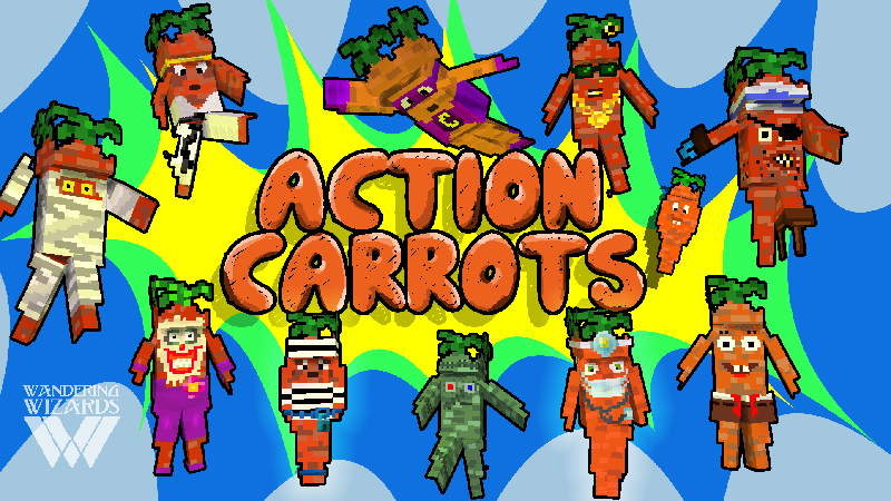 Action Carrots on the Minecraft Marketplace by Wandering Wizards