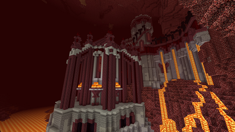 Hellstone Keep on the Minecraft Marketplace by Blockworks
