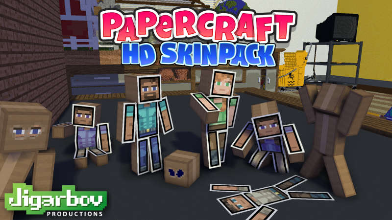 Papercraft HD Skin Pack on the Minecraft Marketplace by Jigarbov Productions