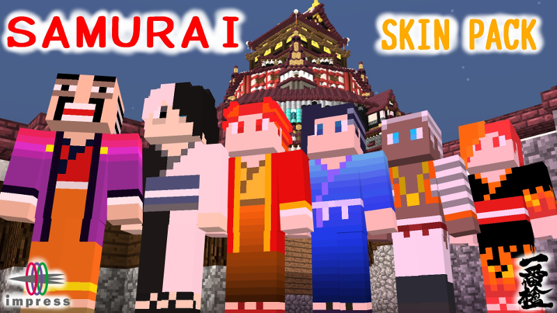 Samurai Skin Pack on the Minecraft Marketplace by Impress