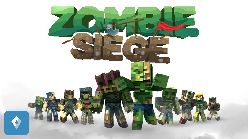 Zombie Siege on the Minecraft Marketplace by Saphire Studios