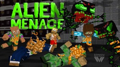Alien Menace on the Minecraft Marketplace by Wandering Wizards