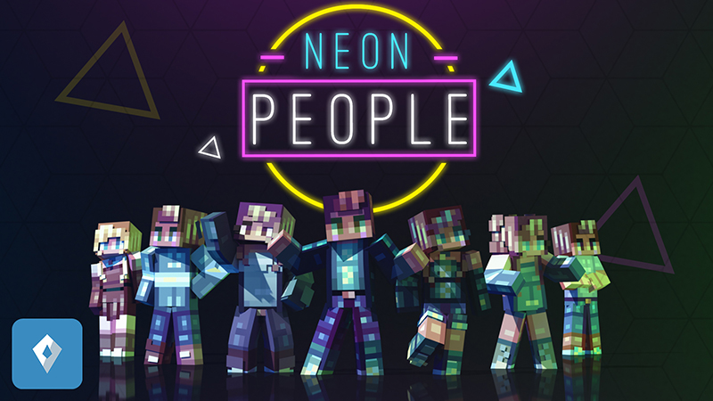 Neon People on the Minecraft Marketplace by Sapphire Studios