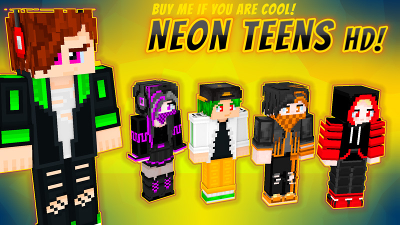 Neon Teens HD on the Minecraft Marketplace by VoxelBlocks