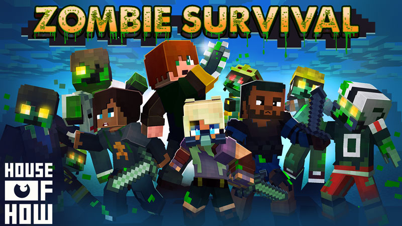 Zombie Survival on the Minecraft Marketplace by House of How