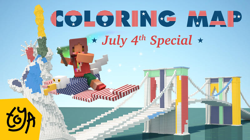 Coloring Map July 4th Special on the Minecraft Marketplace by Toya