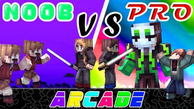Noob vs Pro Arcade on the Minecraft Marketplace by Pixels & Blocks